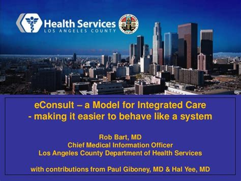Service Los Angeles by Iht 178 Cmio Symposium Beverly Econsult A Model For