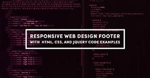 Responsive Web Design Footer With HTML CSS And JQuery