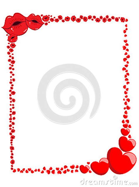 decorative valentine love frame  border stock