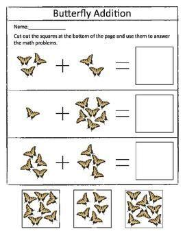 insect addition worksheet set  images addition
