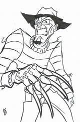 Freddy Kruger Coloring Krueger Mr Deviantart Scary sketch template