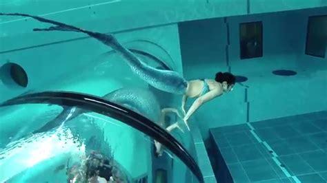 Mermaid Ilaria Molinari Trying Out The Y-40 Deep Joy