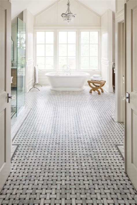 basket weave tile bathroom traditional with basket weave