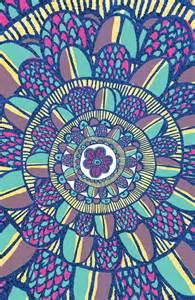 Trippy Flower Drawings