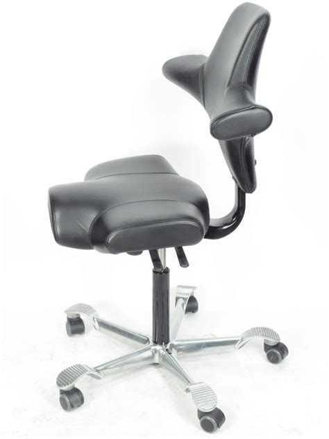 hag capisco 8106 black leather ergonomic office chair la