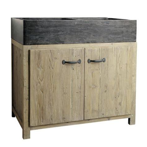 meuble bas de cuisine avec 233 vier en bois recycl 233 l 90 cm