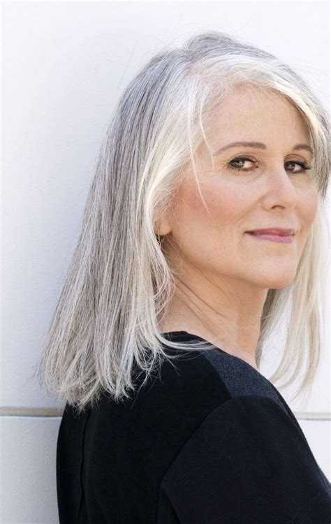 65 Gorgeous Gray Hair Styles Long gray hair Older women
