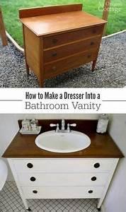 Meuble Salle De Bain Diy : transformer une commode en meuble de salle de bain avec lavabo incorpor diy meubles ~ Melissatoandfro.com Idées de Décoration