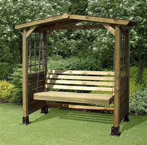 wooden garden swing bench plans
