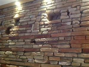Mur En Brique Intérieur : cuisine brique parement mural d 39 int rieur pour d coration industrielle peindre mur briques ~ Melissatoandfro.com Idées de Décoration