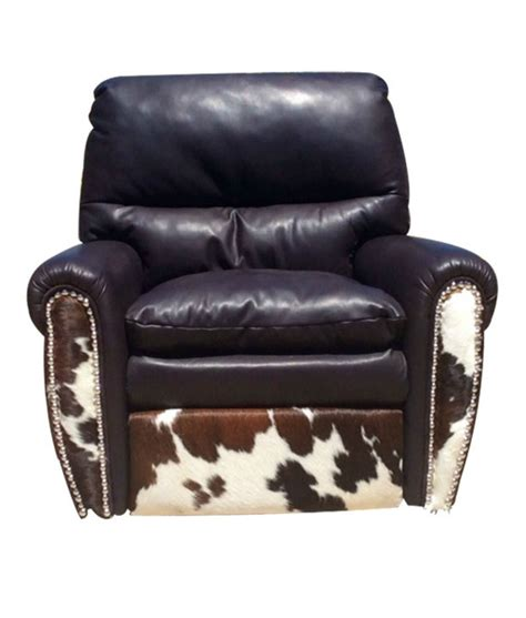 ultimate recliner leather cowhide