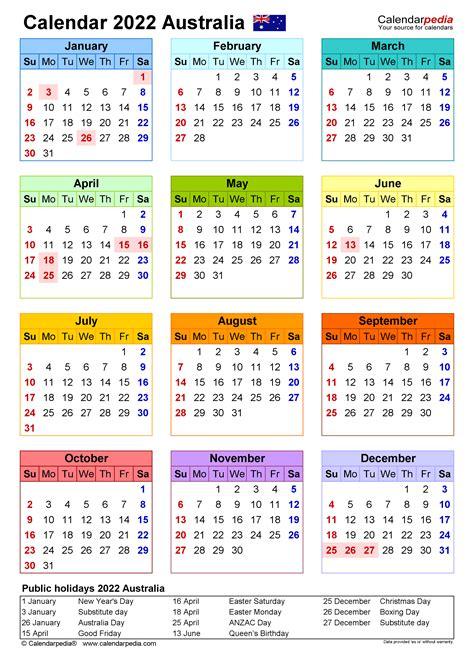 australia calendar   printable word templates