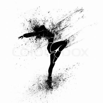 Dancing Silhouette Splash Paint Background Dance Dancer