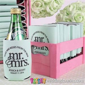 coolie cups wedding favors mini bridal With koozie cups wedding favors