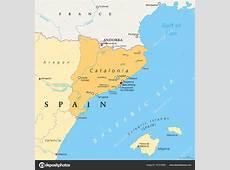 Catalonia autonomous community of Spain political map