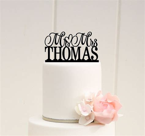 wedding cake topper with personalized wedding cake topper scroll mr and mrs topper custom