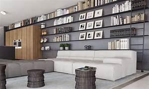 Appartement Avec Grande Bibliothque Murale