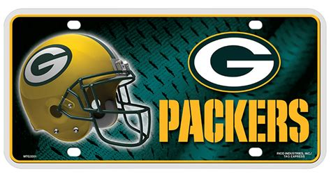 Buy Green Bay Packers Nfl License Plate Flagline