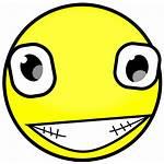 Creepy Face Smiley Clipart Smile Clip Faces