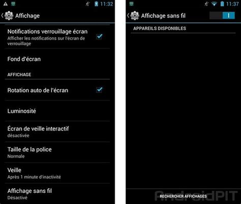 miracast mirroring android connecter un smartphone