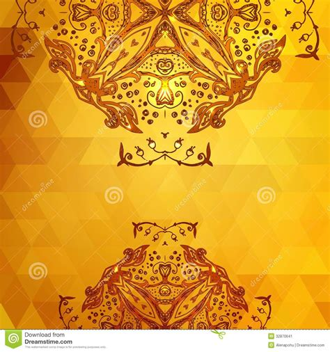 Select from premium invitation card of the highest quality. Template For Invitation Card Background, Gold Stock Image - Image: 32870641