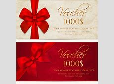 Gift voucher template vector free vector download 17,464