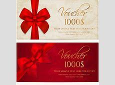 Gift voucher template vector free vector download 15,482