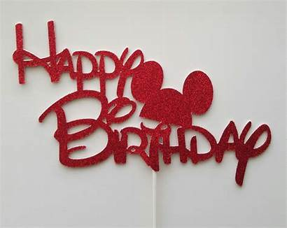 Disney Birthday Happy Cake Topper Mickey Ear