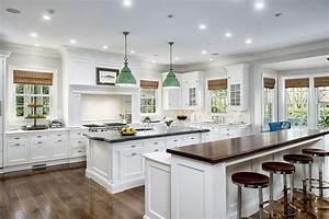 41 luxury u shaped kitchen designs layouts photos for Large u shaped kitchen designs