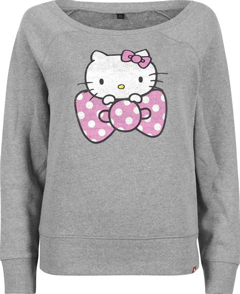hello sweater vans dot hello bow w sweater grey pink