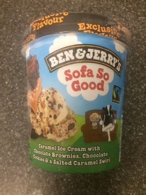 ben and jerry s sofa so nice a review a day today s review ben jerry s sofa so good