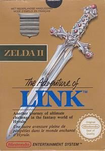 zelda, ii, , the, adventure, of, link, , 1987, , nes, box, cover, art