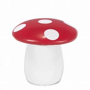 Pouf Chambre Enfant : pouf enfant en forme de champignon rouge blanc champi les chaises et fauteuils enfant ~ Teatrodelosmanantiales.com Idées de Décoration