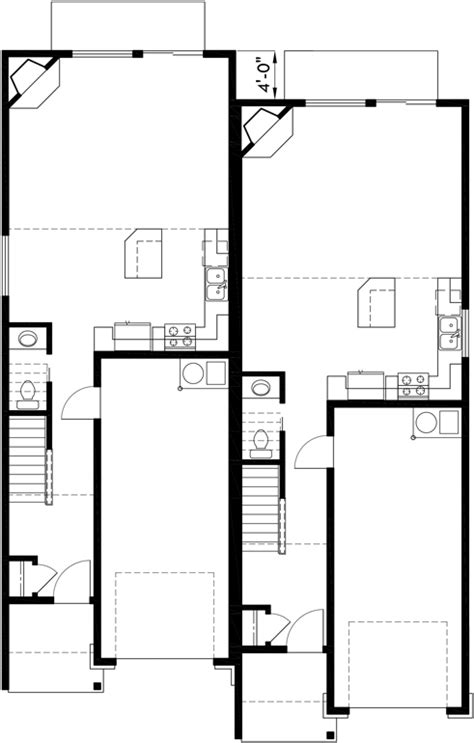 Narrow Row House W Large Master & Open Living Area Sv726m