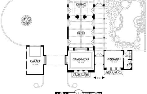 elevation tuscan mediterranean house plans courtyard