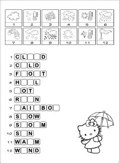 weather vocabulary for kids learning english spelling game