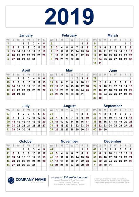 calendar  week numbers calendar