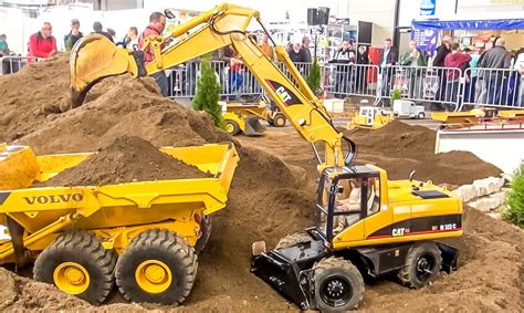 big rc  scale excavator caterpillar  work amazing construction model rc trucks trucks