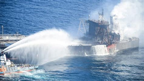 Fire On Stricken Oil Tanker Off Sri Lanka Extinguished ...