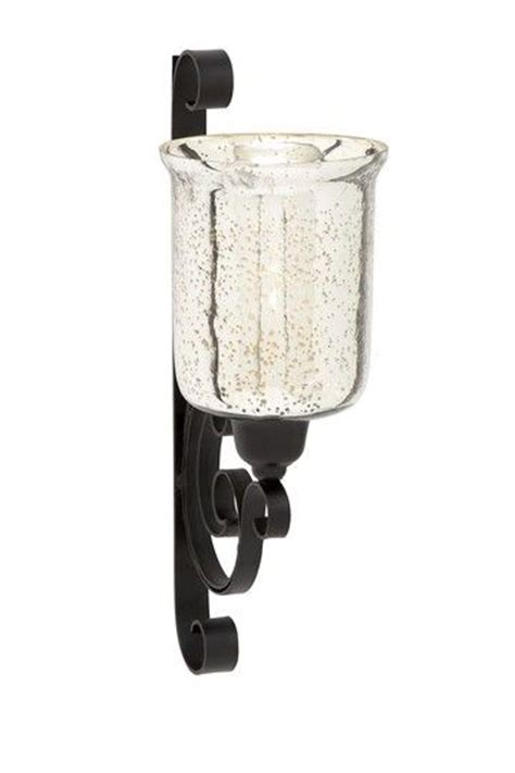 pillar wall sconce mercury glass pillar candle wall sconce let there be