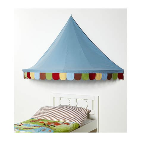 mysig bed canopy light blue ikea