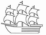 Coloring Boat Pages Printable Pilgrim sketch template