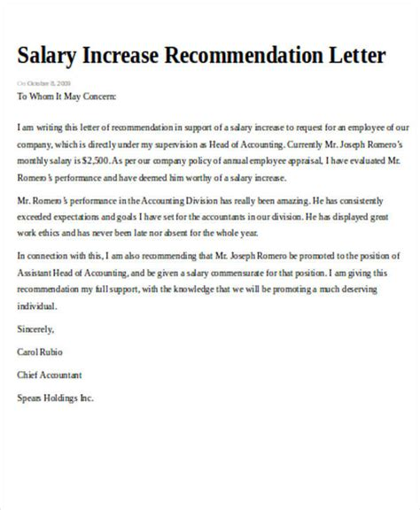 sample recommendation request letter  examples  word