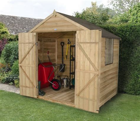7x5 shed barrel garden 7x5 pressure treated overlap apex shed