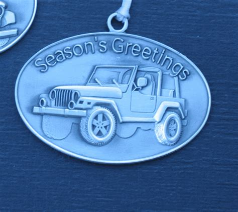 jeep christmas decorations all things jeep pewter christmas ornament featuring a jeep