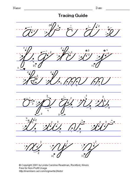 cursive letters az 2 cursive handwriting letters writing 10336