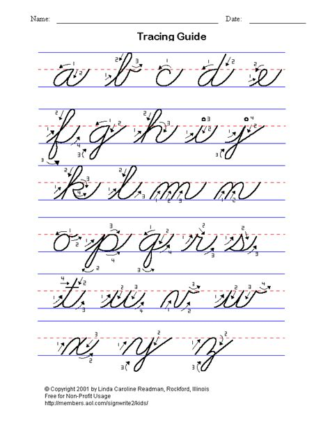 Cursive Handwriting Worksheet  Hand Writing