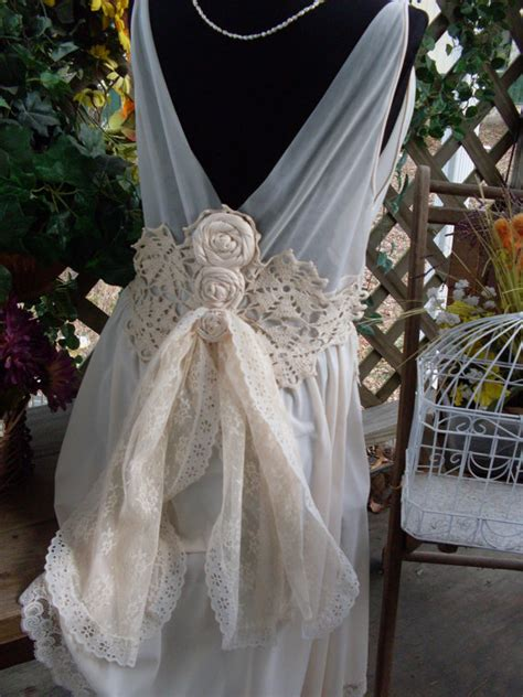 wedding dress shabby chic wedding dress vintage shabby chic gypsy boho