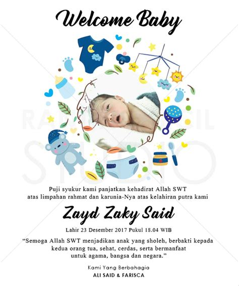 jual  kartu ucapan kelahiran bayi aqiqah  baby