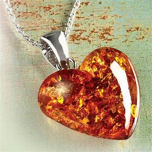 Amber Heart Necklace 22180